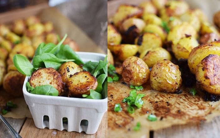 Gebackene Kartoffelhälften mit Rosmarin