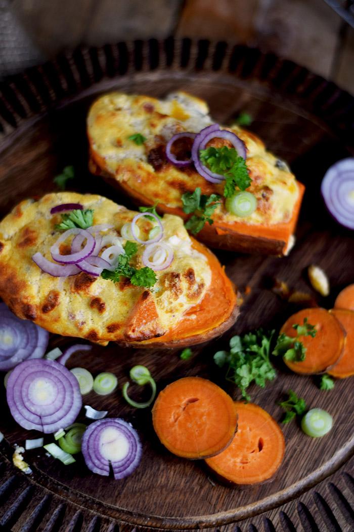 Gefüllte Süßkartoffeln - Stuffed Sweet Potatoes (11)