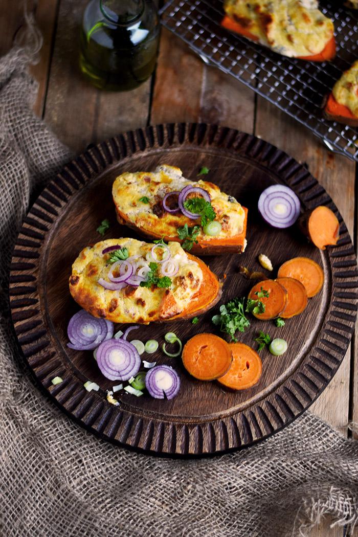Gefüllte Süßkartoffeln - Stuffed Sweet Potatoes (12)