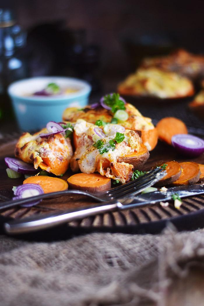 Gefüllte Süßkartoffeln - Stuffed Sweet Potatoes (2)