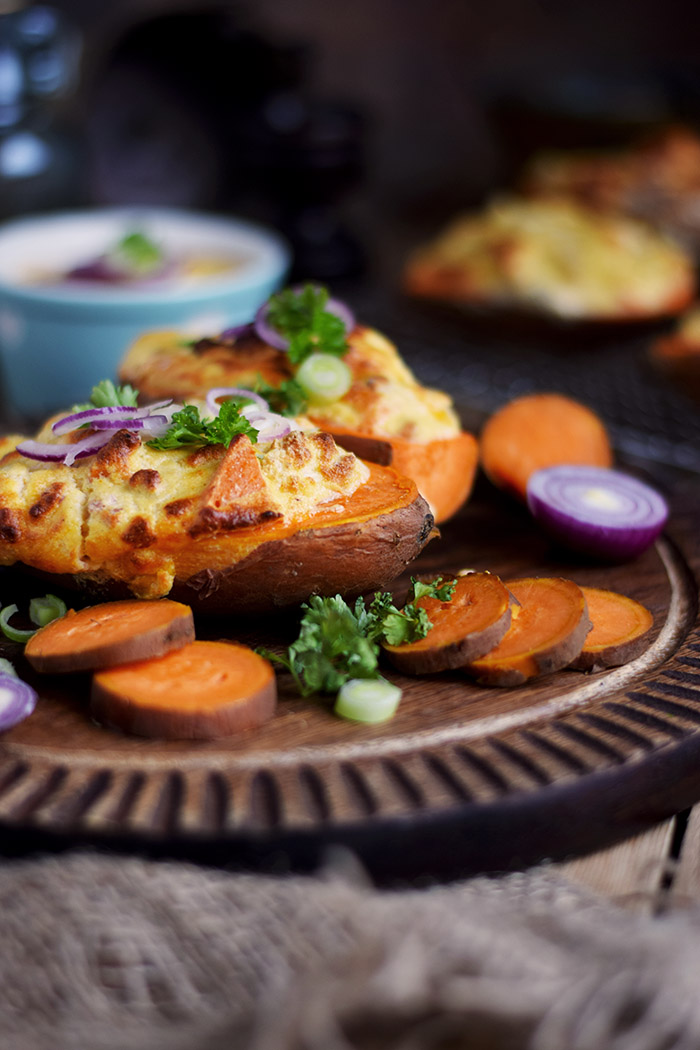 Gefüllte Süßkartoffeln - Stuffed Sweet Potatoes (3)