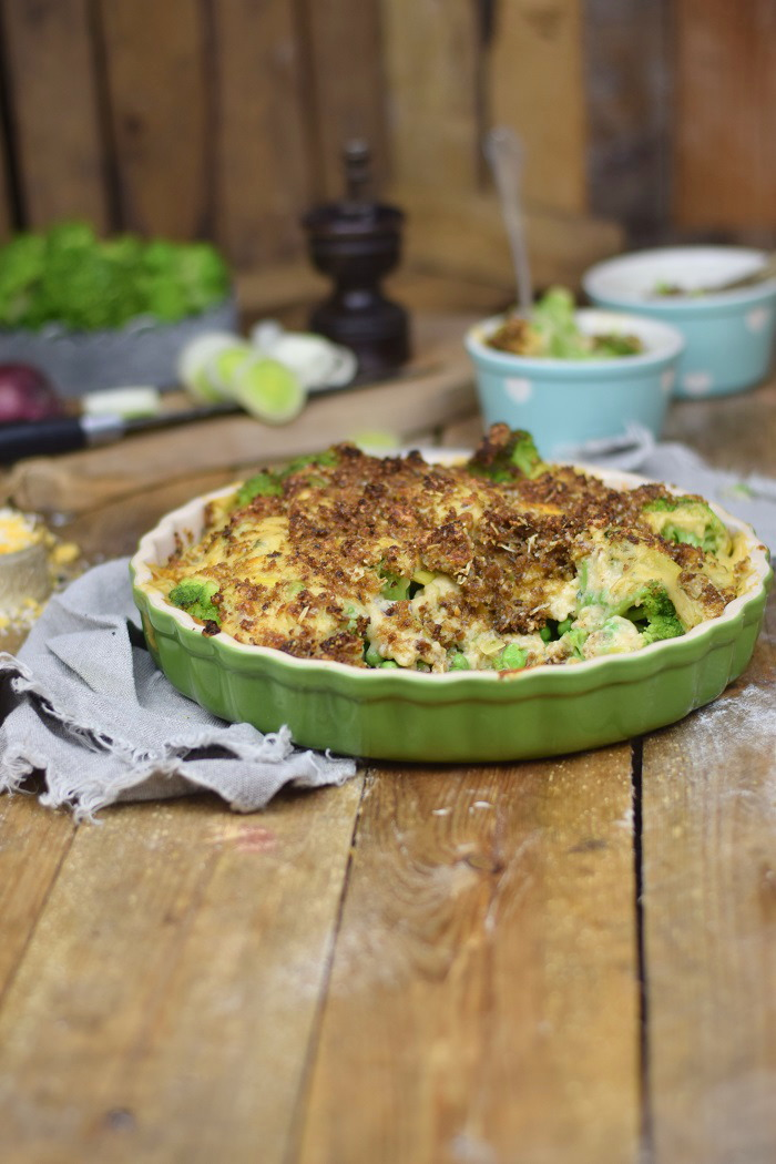 Knuspriger Brokkoli Auflauf - Broccoli Gratin with a crunchy crust (14)