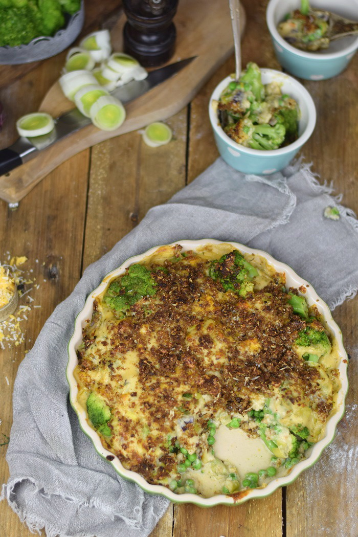 Knuspriger Brokkoli Auflauf - Broccoli Gratin with a crunchy crust (15)