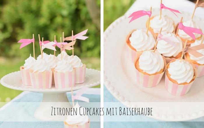 Zitronen Cupcakes mit Baiserhaube