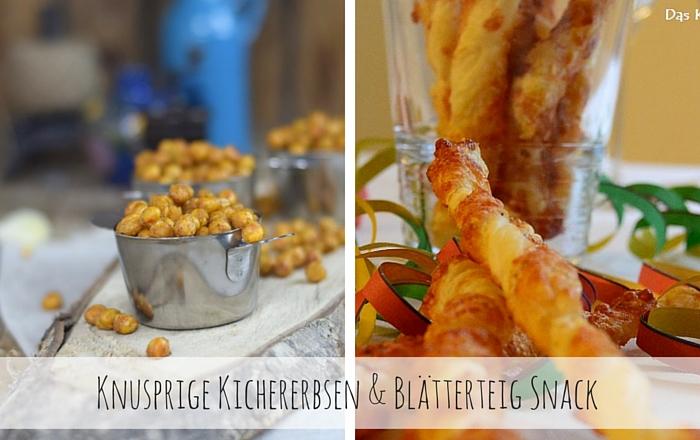 Kichererbsen und Käsestangen Snack
