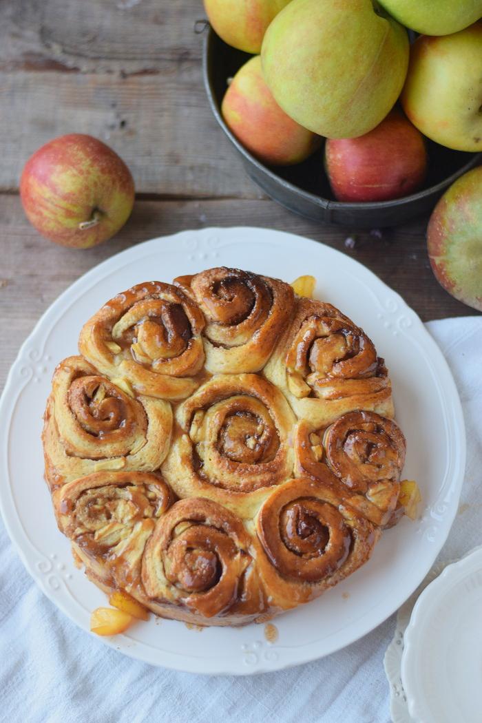 Caramel Apple Cinnamon Rolls 4