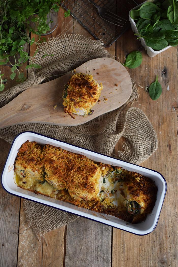 Cajun Chicken - Huehnchen gefuellt mit Spinat und Kaese und knuspriger Panade (3)