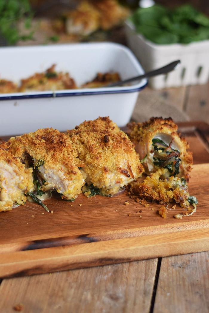 Cajun Chicken - Huehnchen gefuellt mit Spinat und Kaese und knuspriger Panade (6)