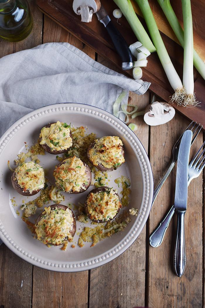 Gefuellte Pilze aus dem Ofen - Filled Oven Mushrooms (12)