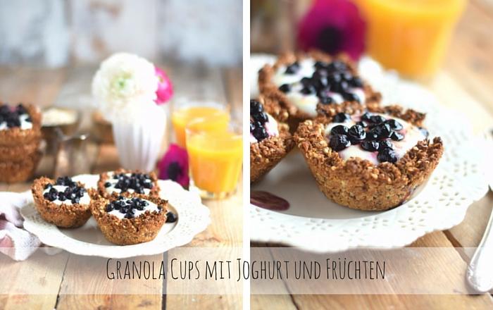 Granola Cups mit Joghurt: Knusperglück zum Frühstück
