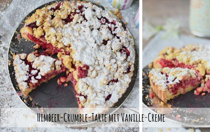 Himbeer-Crumble-Tarte mit Vanille-Creme