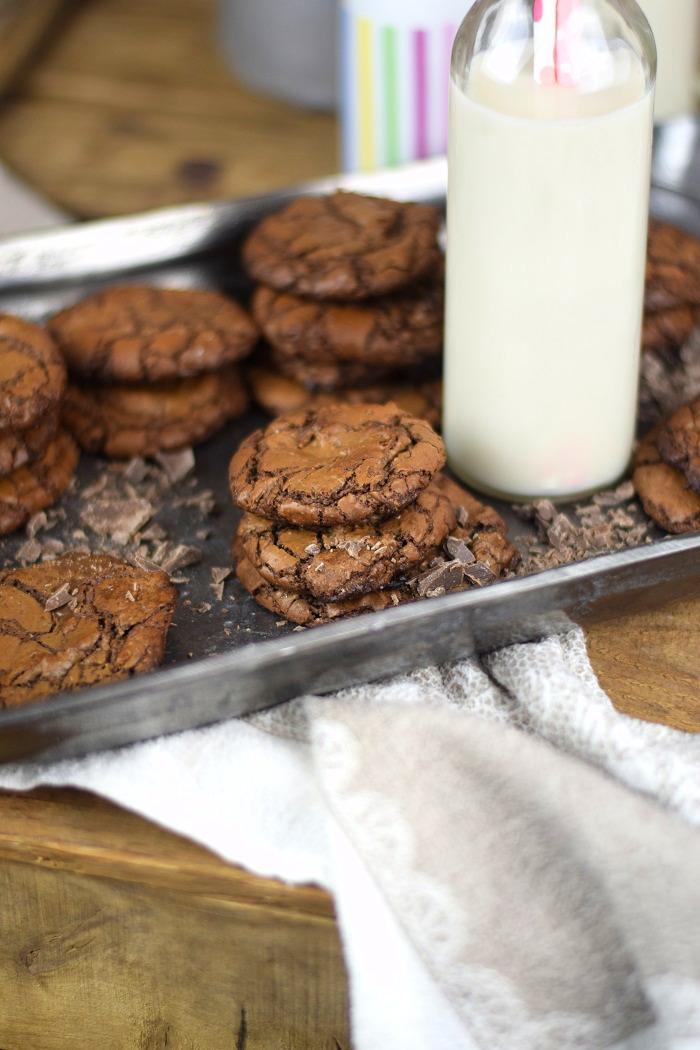 Schokoladige Saftige Brownie Cookies - Chocolate Brownie Cookies (5)