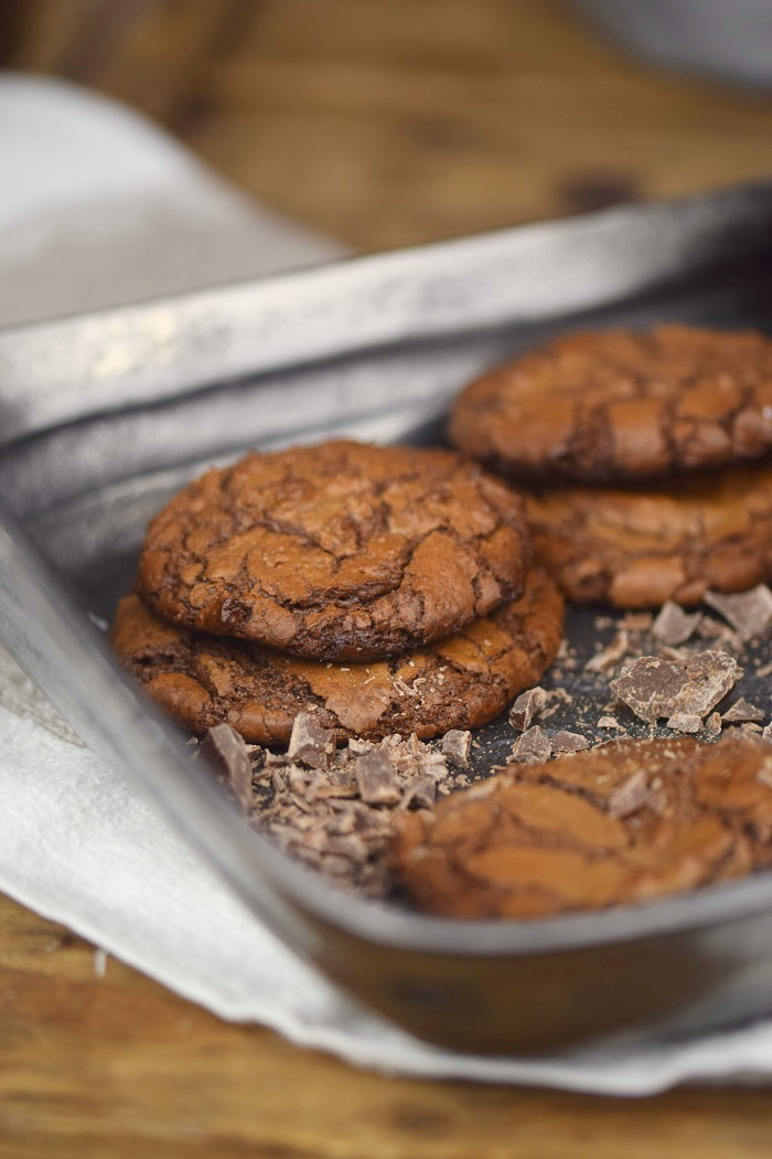 Schokoladige Saftige Brownie Cookies - Chocolate Brownie Cookies (9)
