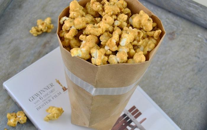 Erdnussbutter Karamell Popcorn