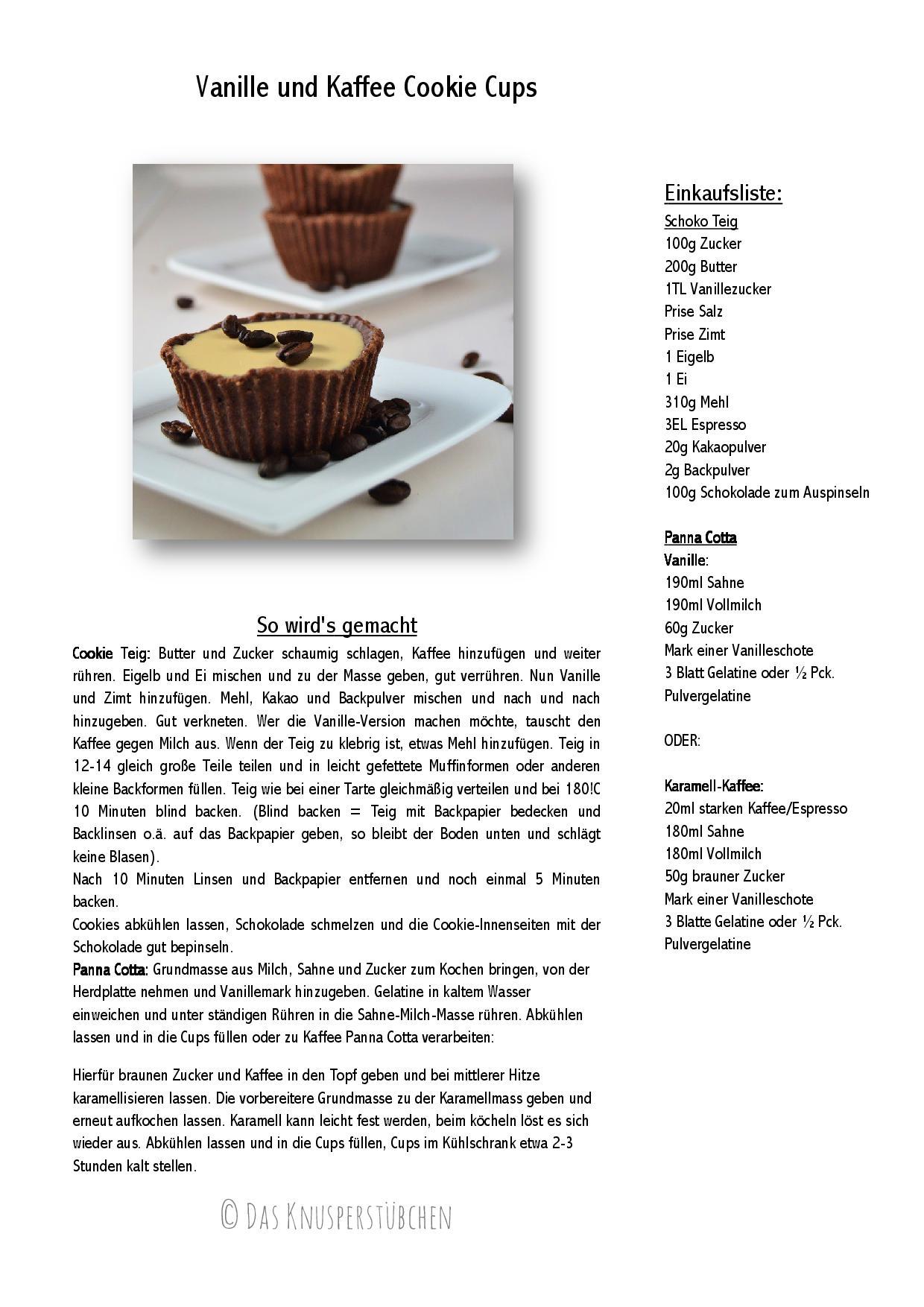 Vanille und Kaffee Cookie Cups-001