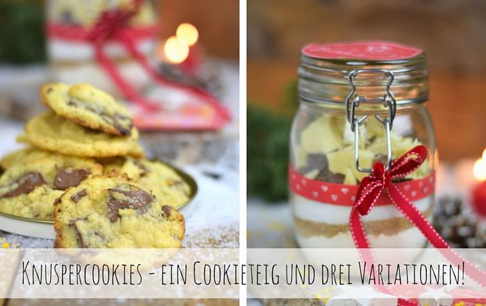 Cookies Backmischung – ein Cookieteig und drei Variationen!