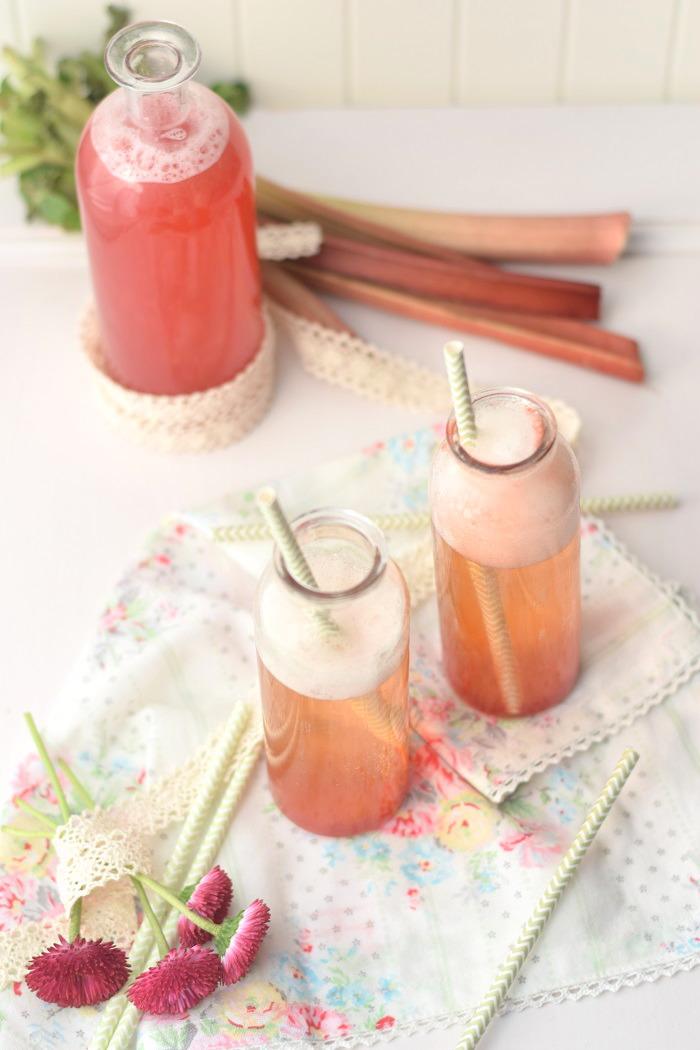 Rhabarber Erdbeer Sirup 5