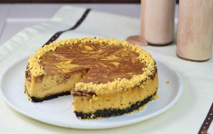Erdnussbutter Schoko Cheesecake