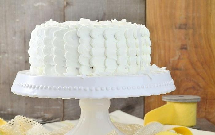 Kokos Torte & Dessert mit weißer Schokolade