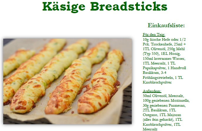 Käsige Breadsticks