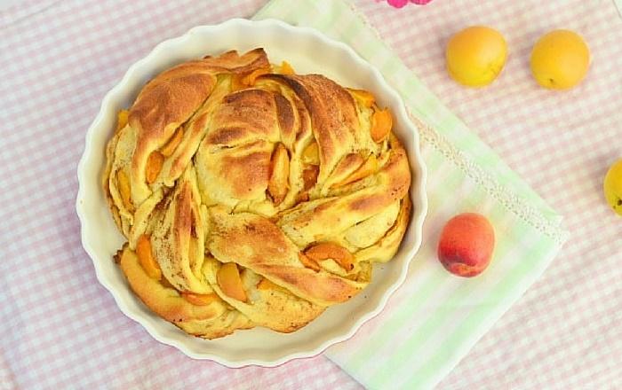 Pinwheel mit Aprikosen Zimt