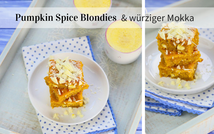 Pumpkin Pie Blondies und Kürbis Milchkaffee