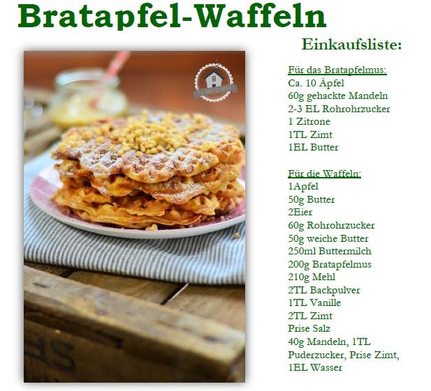 Rezept Bratapfel Waffeln