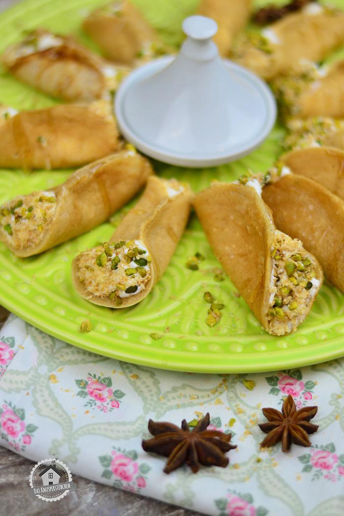 Atayf orientalisches Dessert mit Pistazien 3