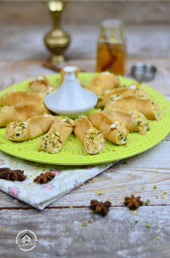 Atayf orientalisches Dessert mit Pistazien 6