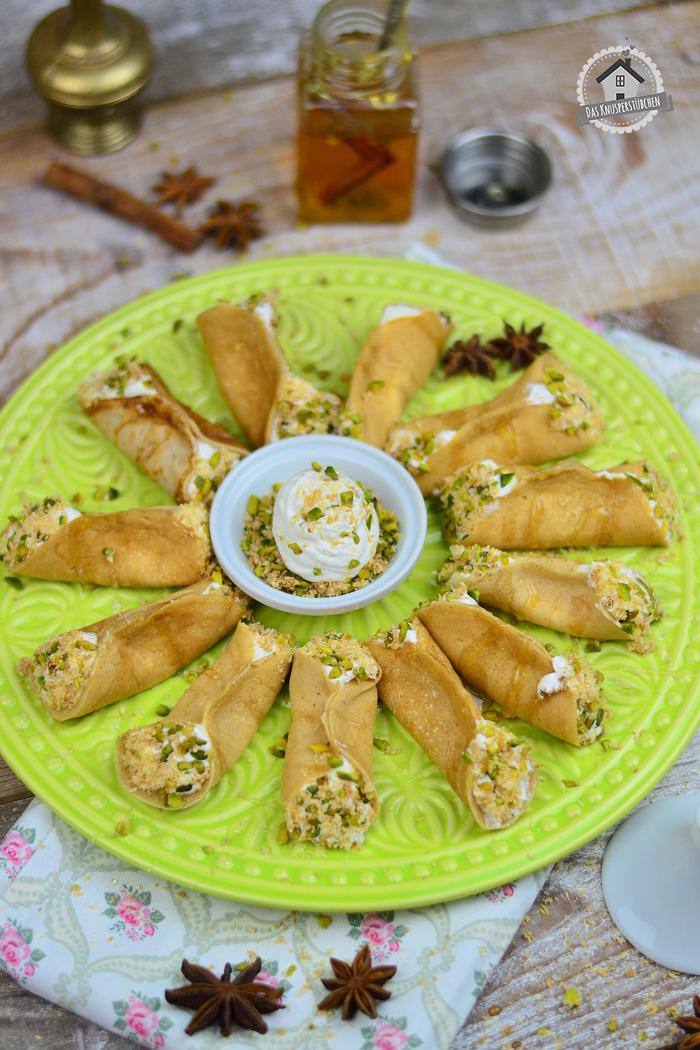 Atayf orientalisches Dessert mit Pistazien 9