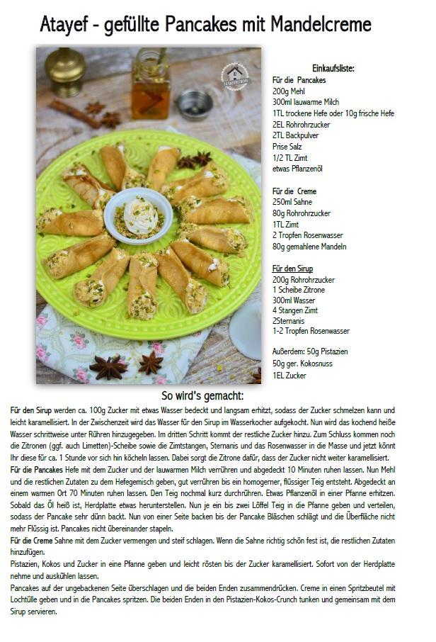 Atayf orientalisches Dessert mit Pistazien Rezept
