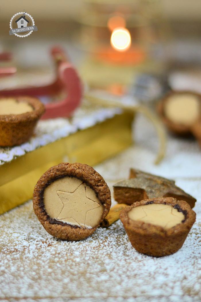 Lebkuchen Cookie Cups mit Lebkuchen Panna Cotta 10