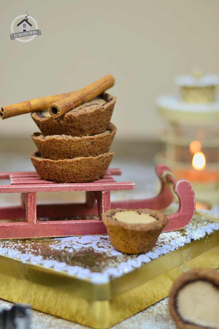 Lebkuchen Cookie Cups mit Lebkuchen Panna Cotta 11