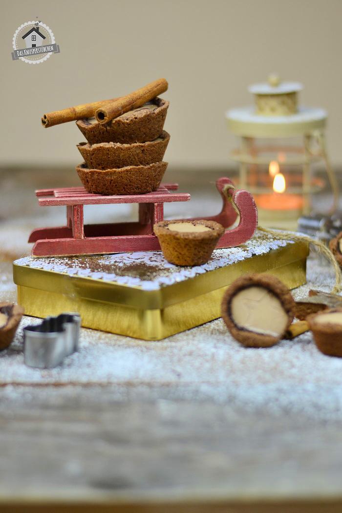 Lebkuchen Cookie Cups mit Lebkuchen Panna Cotta 8