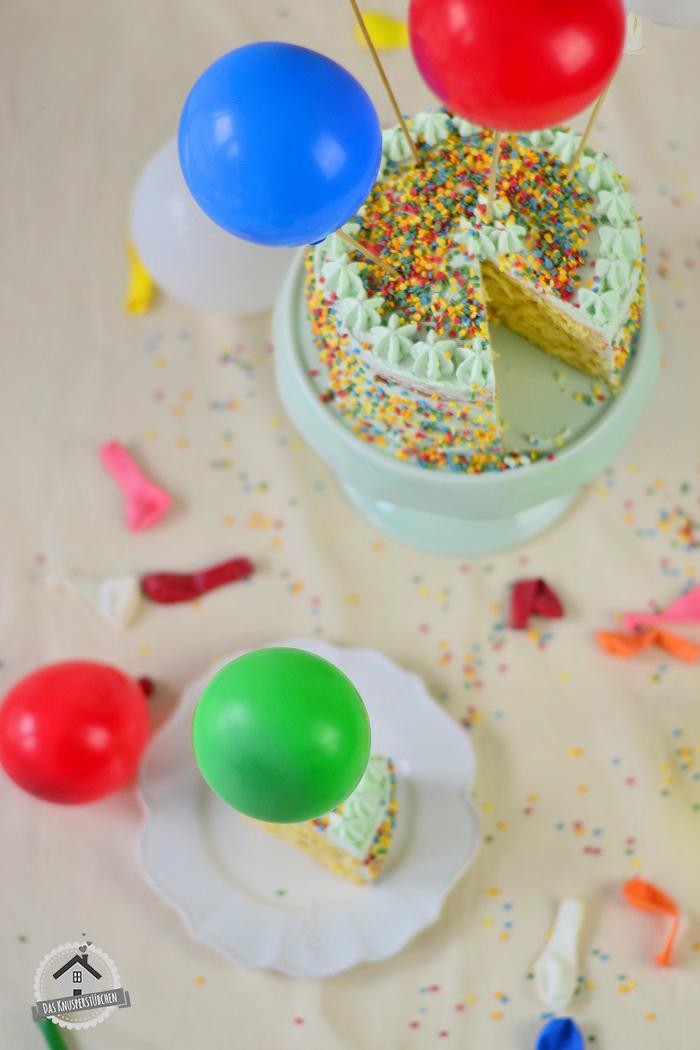 Marzipan Geburtstagstorte Luftballons 12