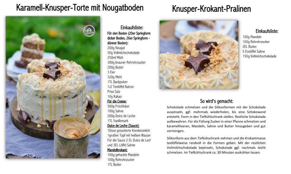 Rezept Pralinen und Mandelkrokant Karamell Nougat Torte