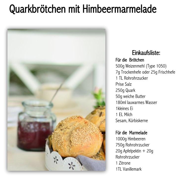 Rezept Quarkbrötchen mit Himbeermarmelade
