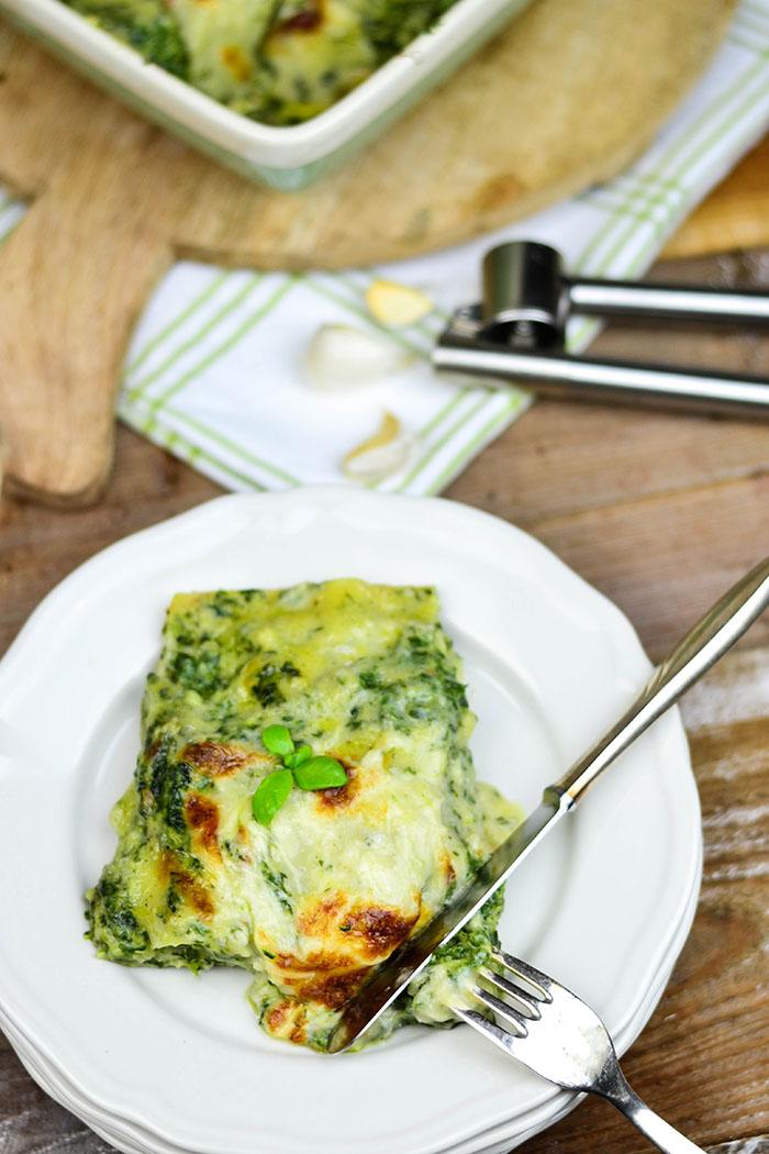 Spinat Lasagne mit Gorgonzola (2)