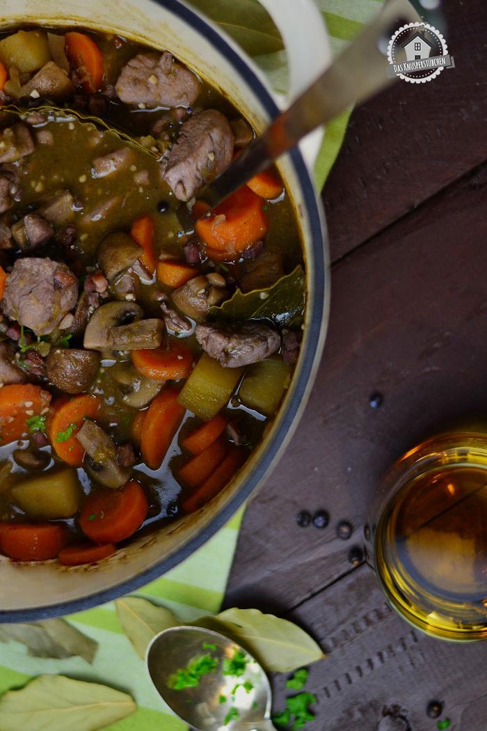Stew mit Whiskey und Rotwein 10