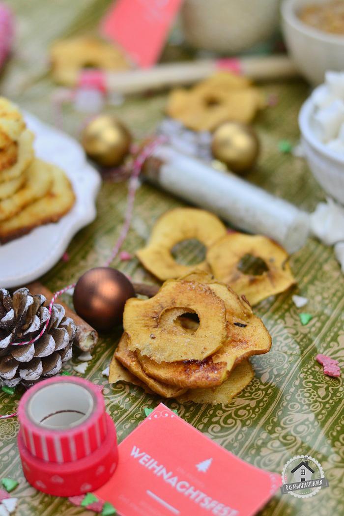 Bratapfel Chips mit Vanille Orangen Zucker 2
