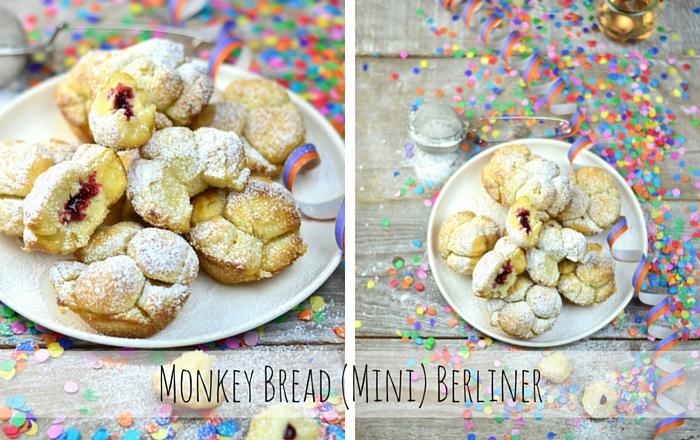 Monkey Bread (Mini) Berliner – Ofenberliner mit Marmeladenfüllung