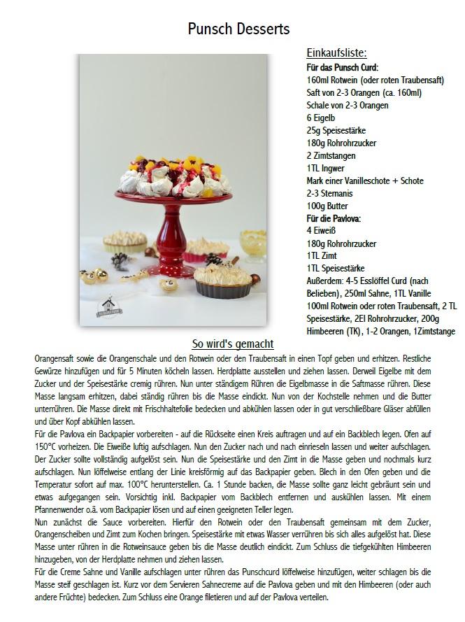 Punsch Curd Pavlova Meringue Pie Macarons Rezepte