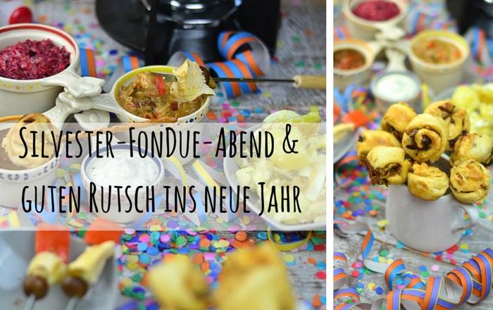 Fondue mit Dips, Kartoffelsalat, Pinwheel Pops & guter Musik (Werbung)