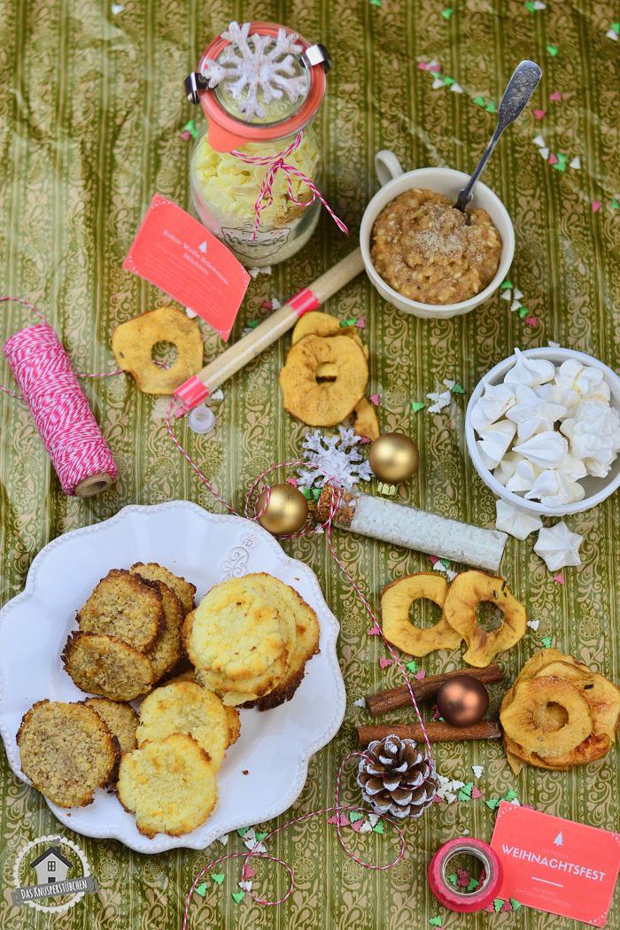 Wichtelgeschenke Rezepte Milchreis Vanillezucker Gewürzsalz Kokoskekse Baiser Bratapfel Chips