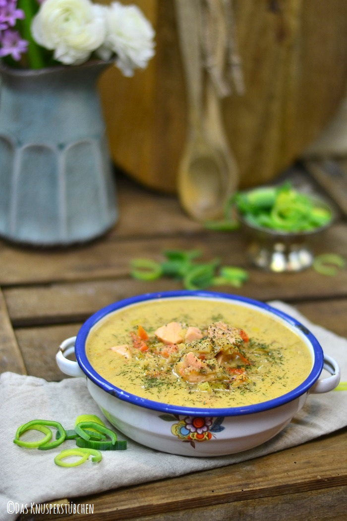 Lachs Lauch Chowder Suppe 5-1