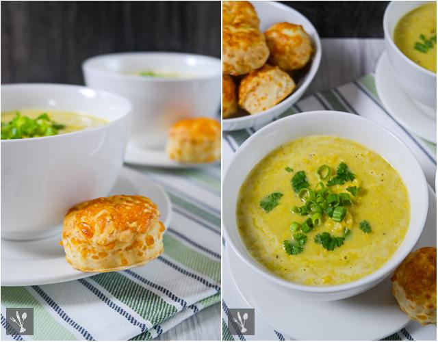 Maissuppe mit Käse-SconesC