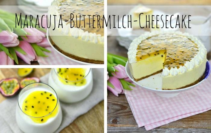 Maracuja Buttermilch Cheesecake & Quark-Dessert