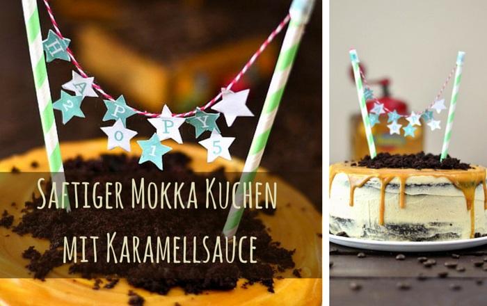 Mokka Torte mit Karamellsauce