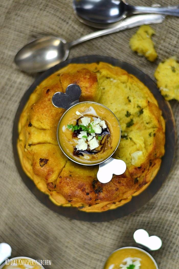 Suesskartoffel Linsensuppe mit Monkeybread 5-2