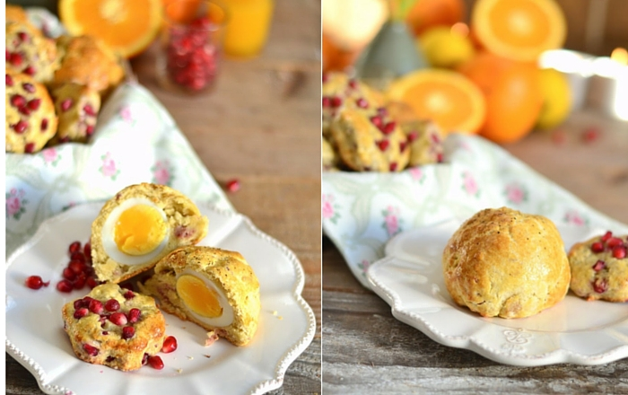 Bacon & Ei Scones oder Granatapfel-Orangen Scones mit Joghurt – Breakfastival